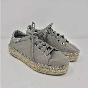 736fc807f35 Steve Madden Shoes - Steve Madden Edmund gray platform sneakers